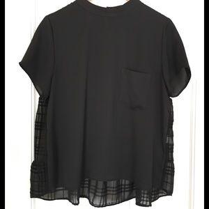 Zara NWOT black blouse